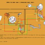 Schema elettrico vespa 125  e  125 primavera