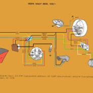 Schema elettrico Vespa Rally 180 – VSD 1