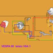 Schema elettrico Vespa 90 – V9A 1