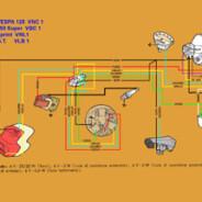 Schema elettrico Vespa 125 – 150  VNC1-VBC1-VNL1-VLB1