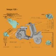 Schema elettrico Vespa 125 anno 1956