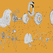 5 Vespa VN1 – VN2 – VNA – VNB volano magnete