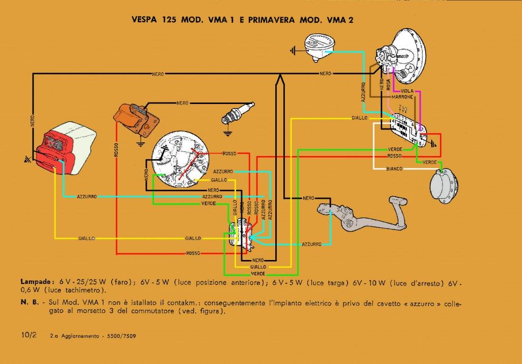 Schema Elettrico Liberty 125 : Schema elettrico vespa e primavera club