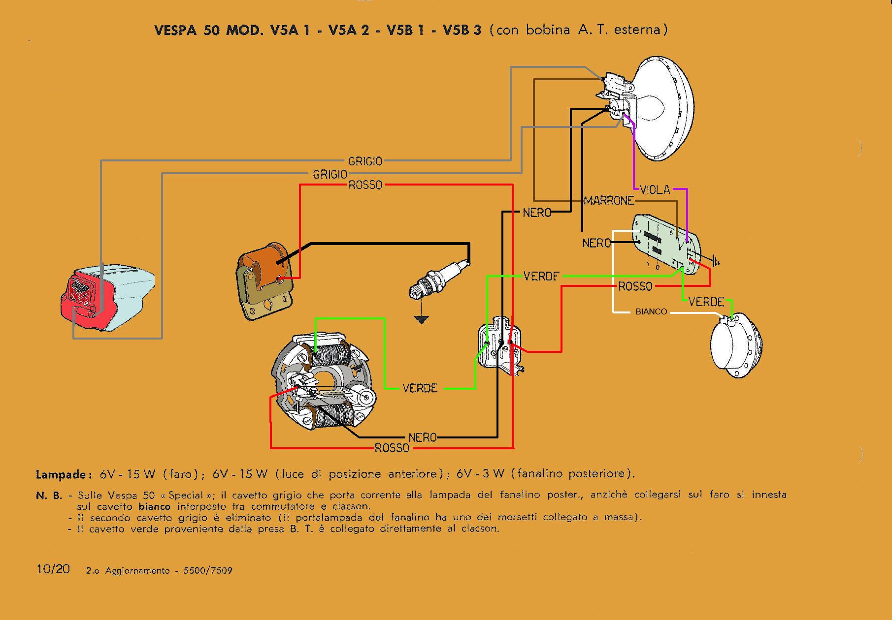 Schema Elettrico Vespa 50 N : Schema elettrico vespa vsa v b